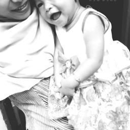 motheranddaughter blackandwhite baby love