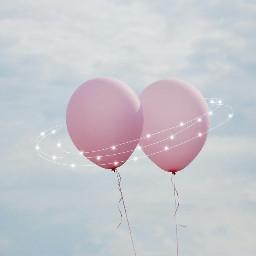 freetoedit remix thanks balloon pink