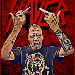 fuckinslayer slayer thrashmetal picsartmetalheadmovement freetoedit