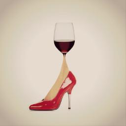 wierd wine women pun freetoedit