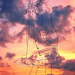 followcookie sun sky sunset people