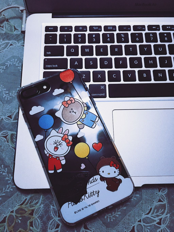 designer fashion e6735 96470 cute phone case cute iPhone black linefriends hellokitt...