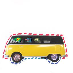 freetoedit monster bus transportation dottedoutline