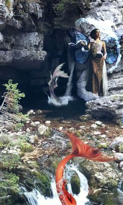 freetoedit fantasy mermaid water surreality