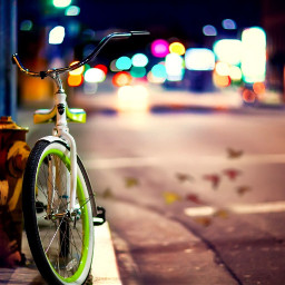 bike streetphotography lamppost autumn freetoedit