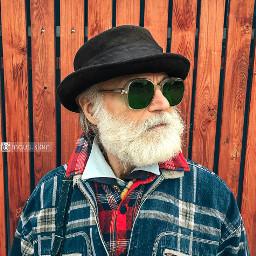 portrait bearded hat style iphone7