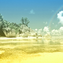 freetoedit colorsplash beach colorful nature