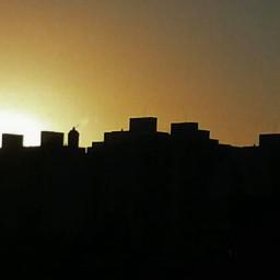 sonnenuntergang colorful city black sunset freetoedit