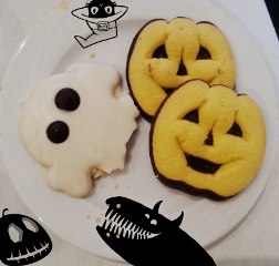 halloween cookies monster