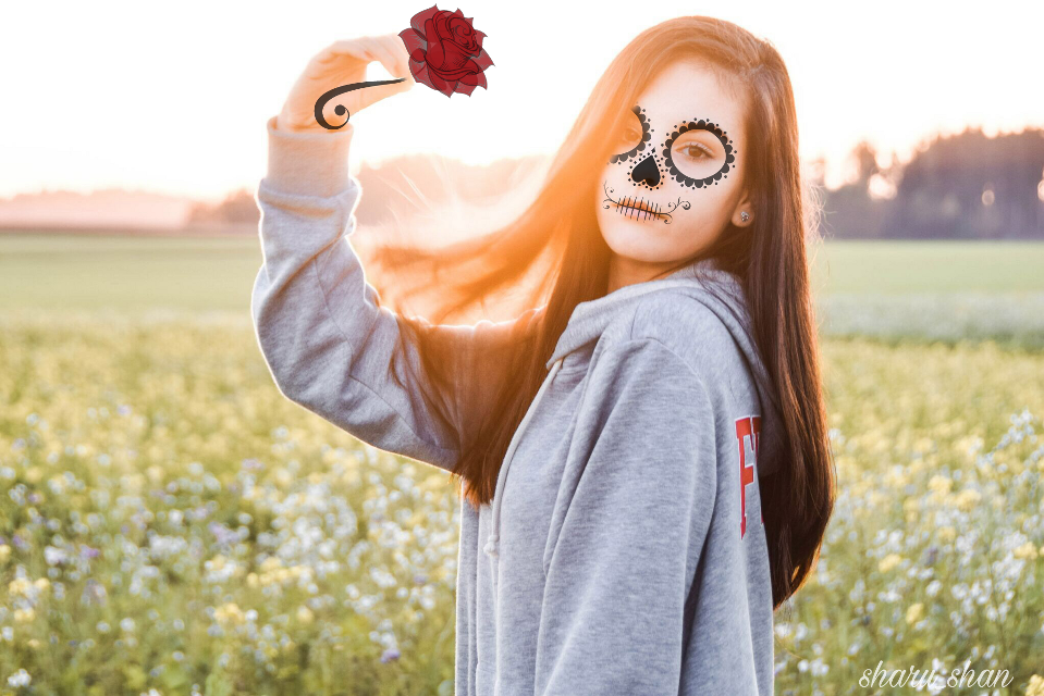 #FreeToEdit  #colorful  #cute  #flower  #nature  #people