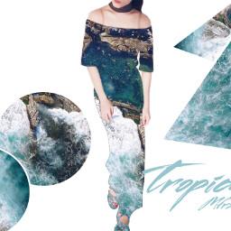 tropical fashion picsart