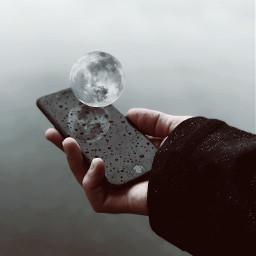 freetoedit remix remixed moon reflection