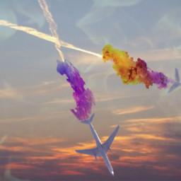 freetoedit remixes myphotography airplanes magicsmoke
