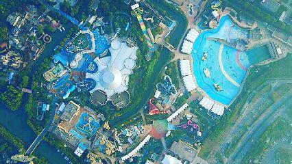 amusementpark colorful birdseyeview
