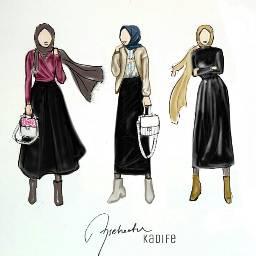 aysehaatun hijabfashion illustration collection