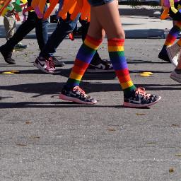 colorful socks rainbow streetstyle photosfromthestreet
