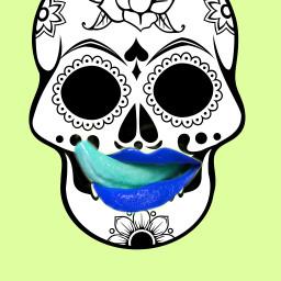 freetoedit mouth color colorful skelleton