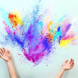 freetoedit colorburst happy handsup colorful