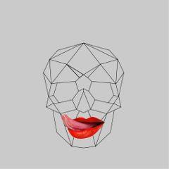 freetoedit polygon skull colorsplash aesthetic