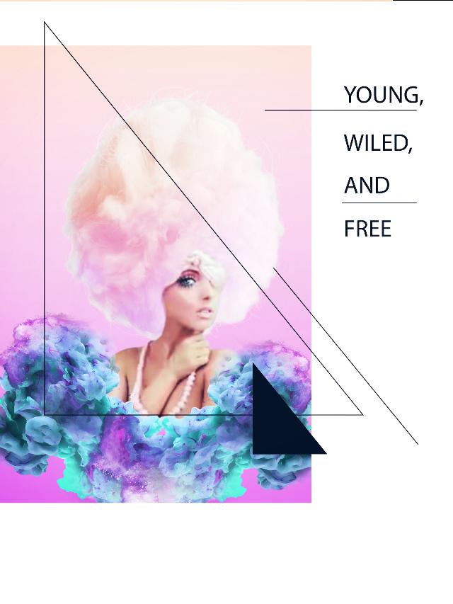 YOUNG WILD AND FREE #interesting #art #girl #model #young #wild #free #people #picsart #myedit #frame #magic #smoke #dailychallenge #remixed  #FreeToEdit